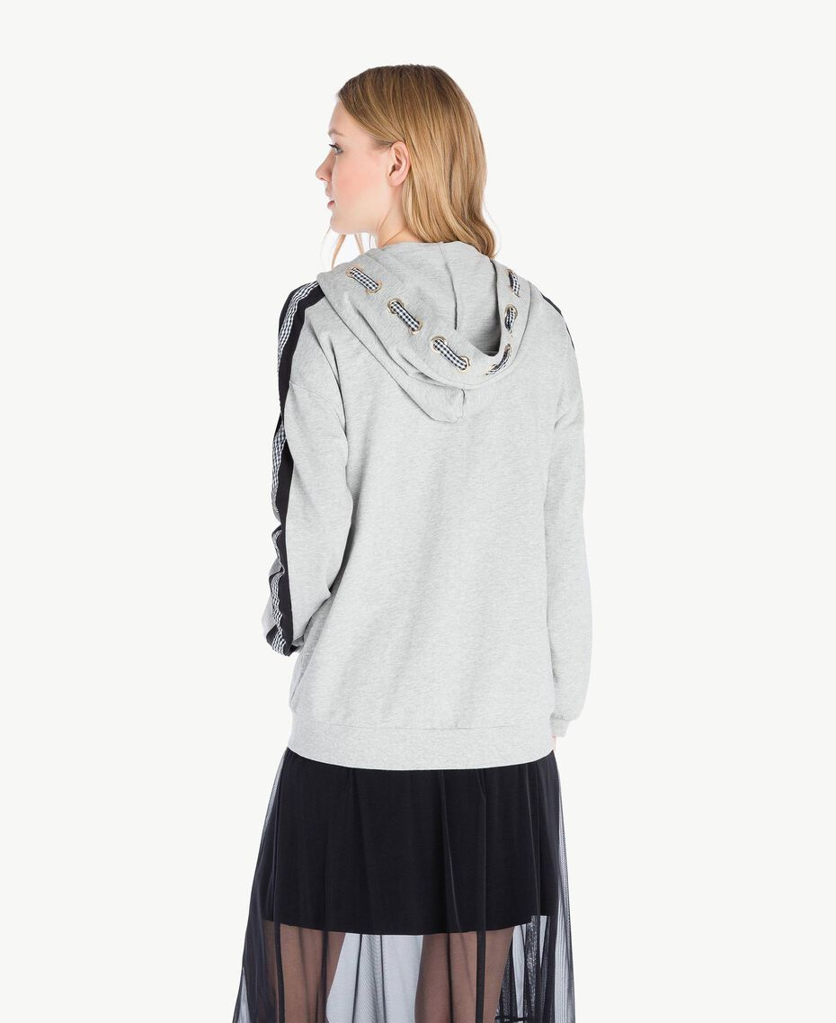 Gingham sweatshirt Melange Grey Woman JS82H3-03