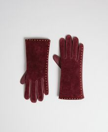 Touch screen gloves with studs Black Woman 192TA4341-01