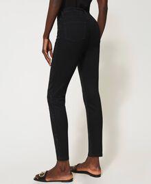 Jean skinny avec cristaux Noir Femme 211TT2320-04