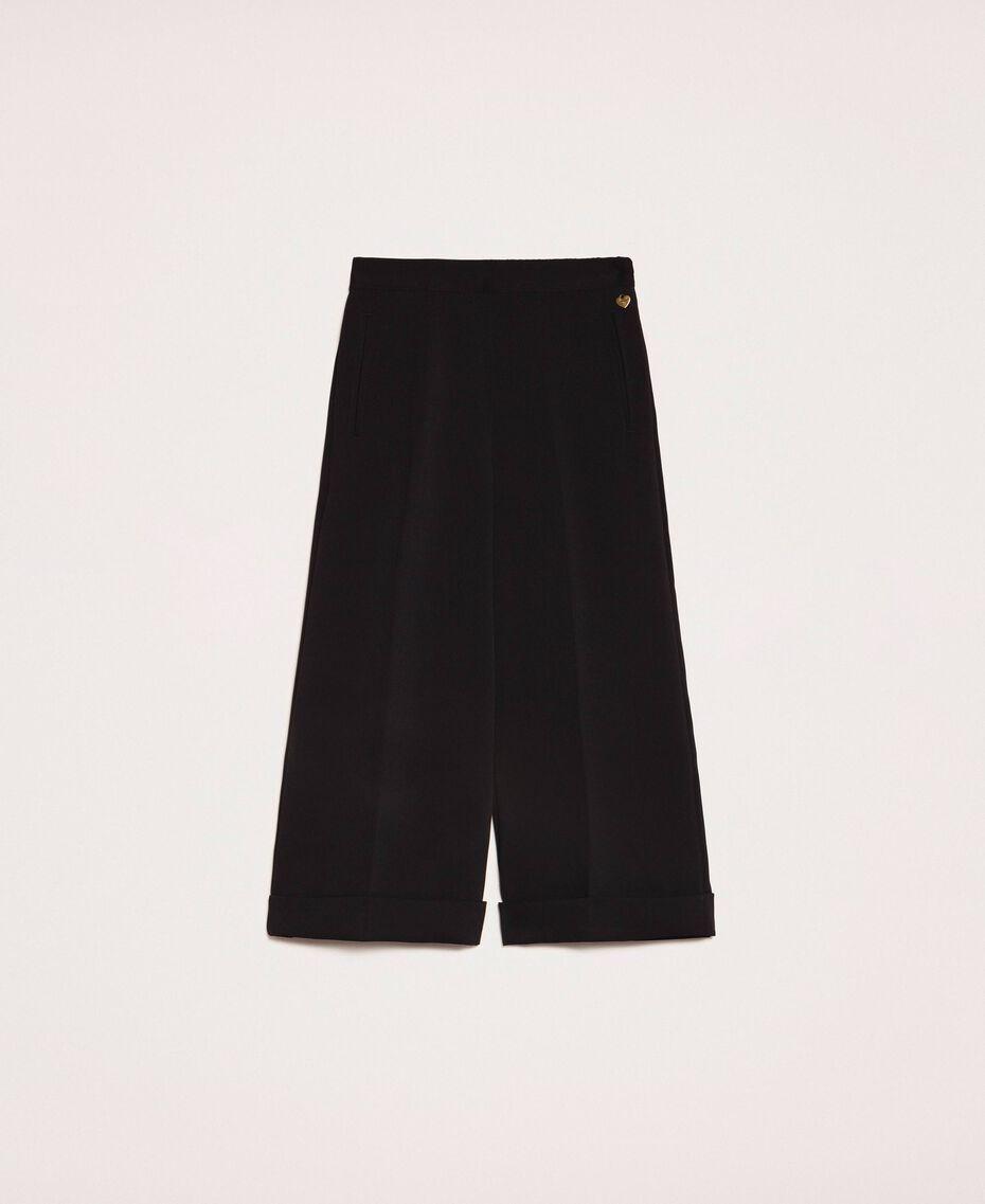 Pantalon ample en crêpe georgette Noir Femme 201TP202C-0S