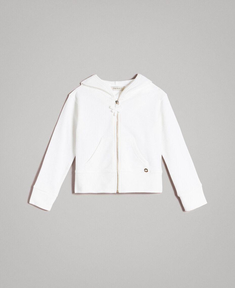 Sweat shirt en coton avec nœuds Off White Enfant 191GJ2031-01