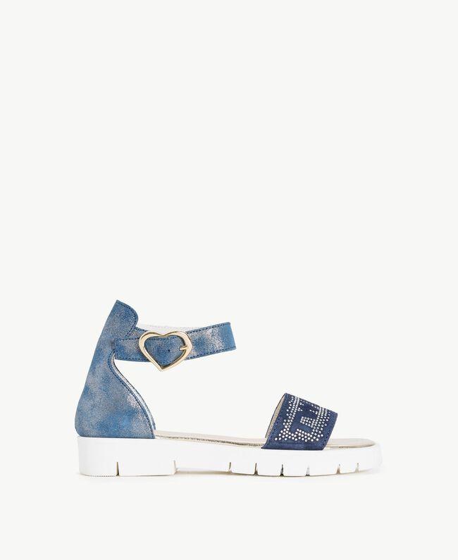 Sandale mit Strass Unendlichkeits-Azur Kind HS88DQ-01