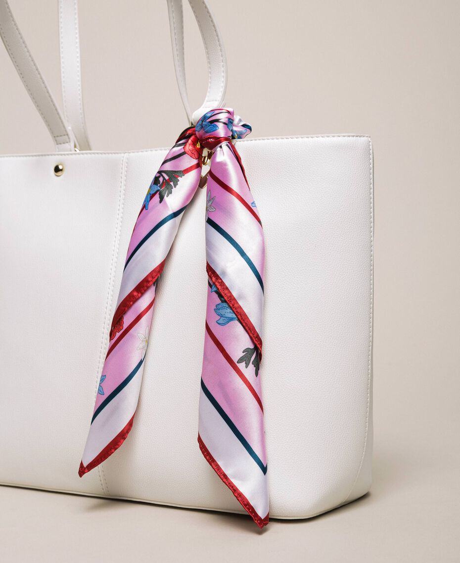 Faux leather shopper with scarf Lily Woman 201MA7080-01