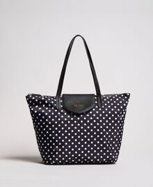 Polka dot foldable shopper bag White / Black Polka Dot Print Woman 191MA7120-01