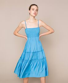 "Skirt-dress with flounces ""Waterfall"" Blue Woman 201LB2BEE-04"
