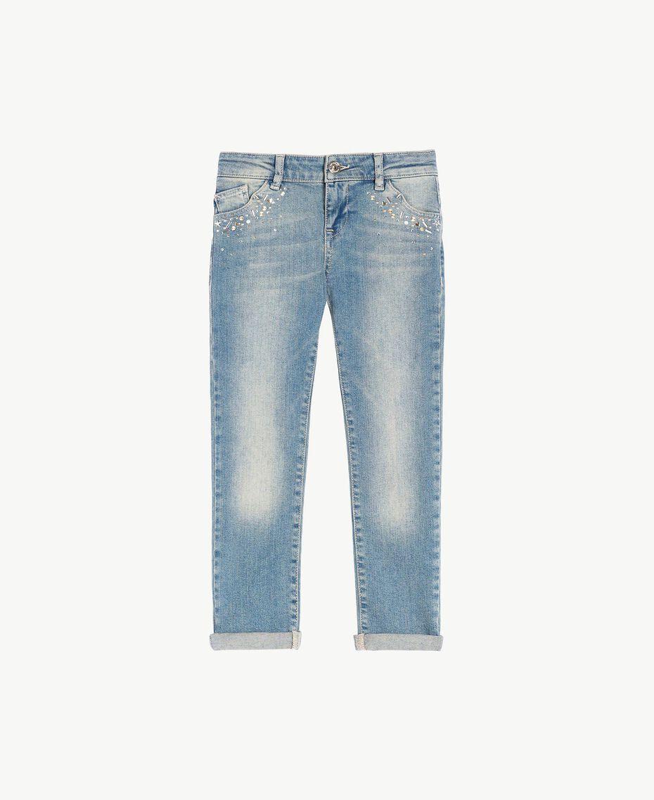 "Skinny jeans ""Mid Denim"" Blue Child GS82T3-01"