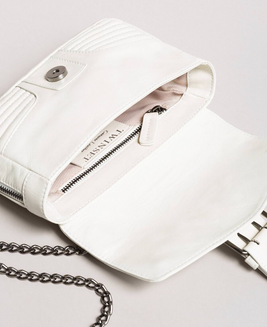 Rebel leather shoulder bag White Snow Woman 191TA7237-05