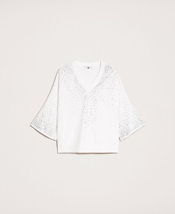 Sweatshirt with fadeout rhinestones