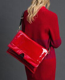 Большая складная сумка-шоппер из искусственной кожи Красный Гранат женщина 192TA7173-0T