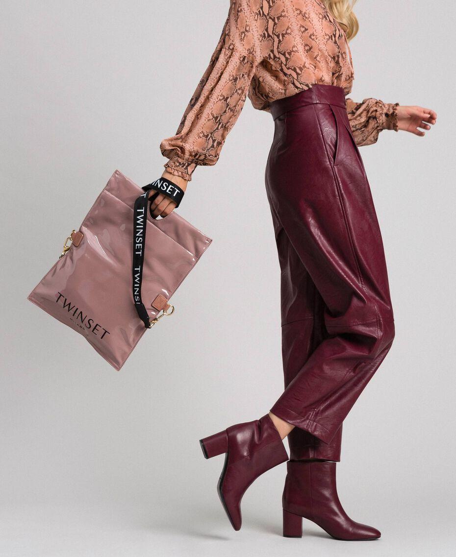 Petit sac cabas repliable en similicuir Rose Poudre Femme 192TA7174-0S