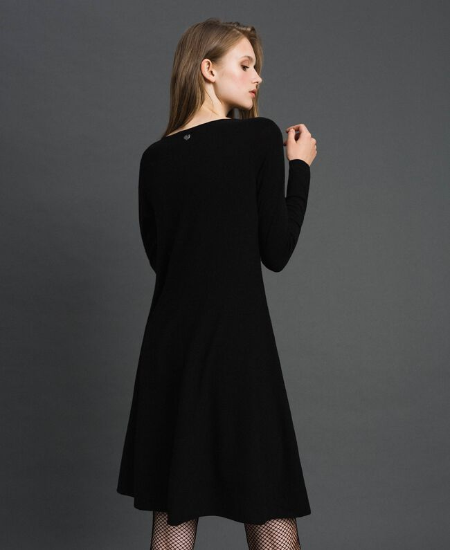 Knitted full dress Black Woman 192TT3281-03