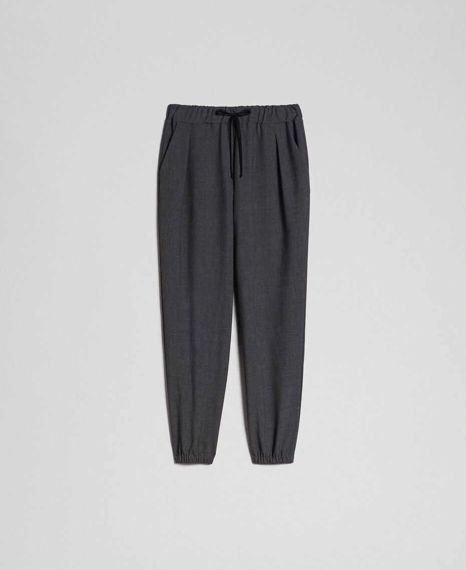Jogging trousers Dark Gray Mélange Woman 192LI2SDD-0S