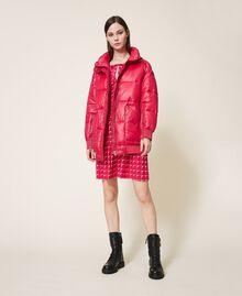 "Oversize puffer jacket with maxi pockets ""Cerise"" Fuchsia Woman 202MP2050-0T"