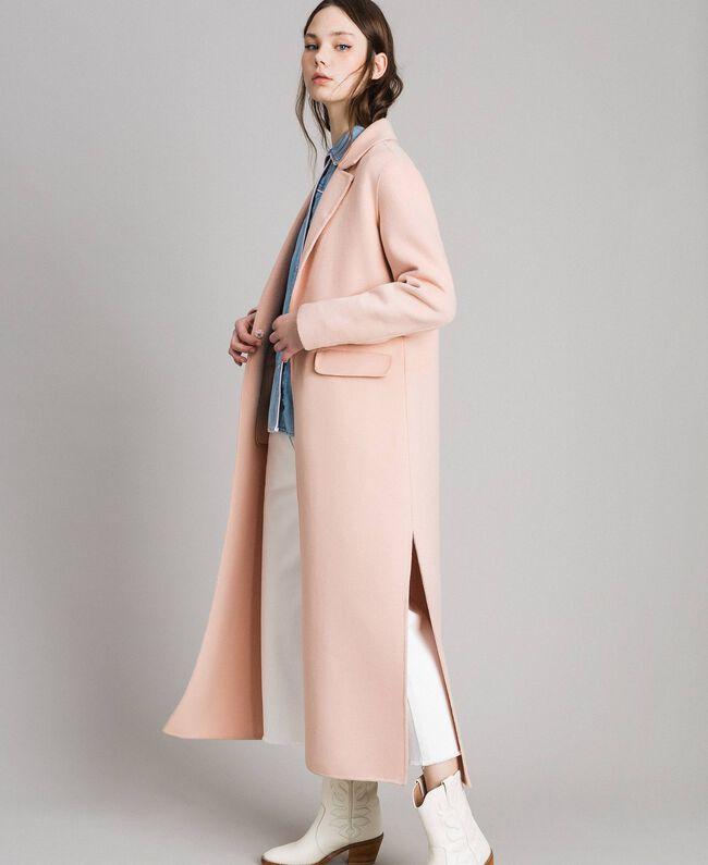 "Double wool cloth long coat ""Nude"" Beige Woman 191TP2480-04"