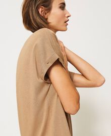 """Knit dress with removable sleeves """"Dune"""" Beige Woman 202MP3032-06"""