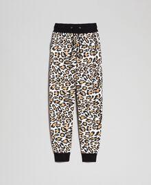 Pantalon de jogging avec imprimé animalier Imprimé Animalier / Noir Femme 192MP2390-0S