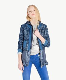 Bouclé jacket Multicolour Lapis Blue Woman JS82MD-01