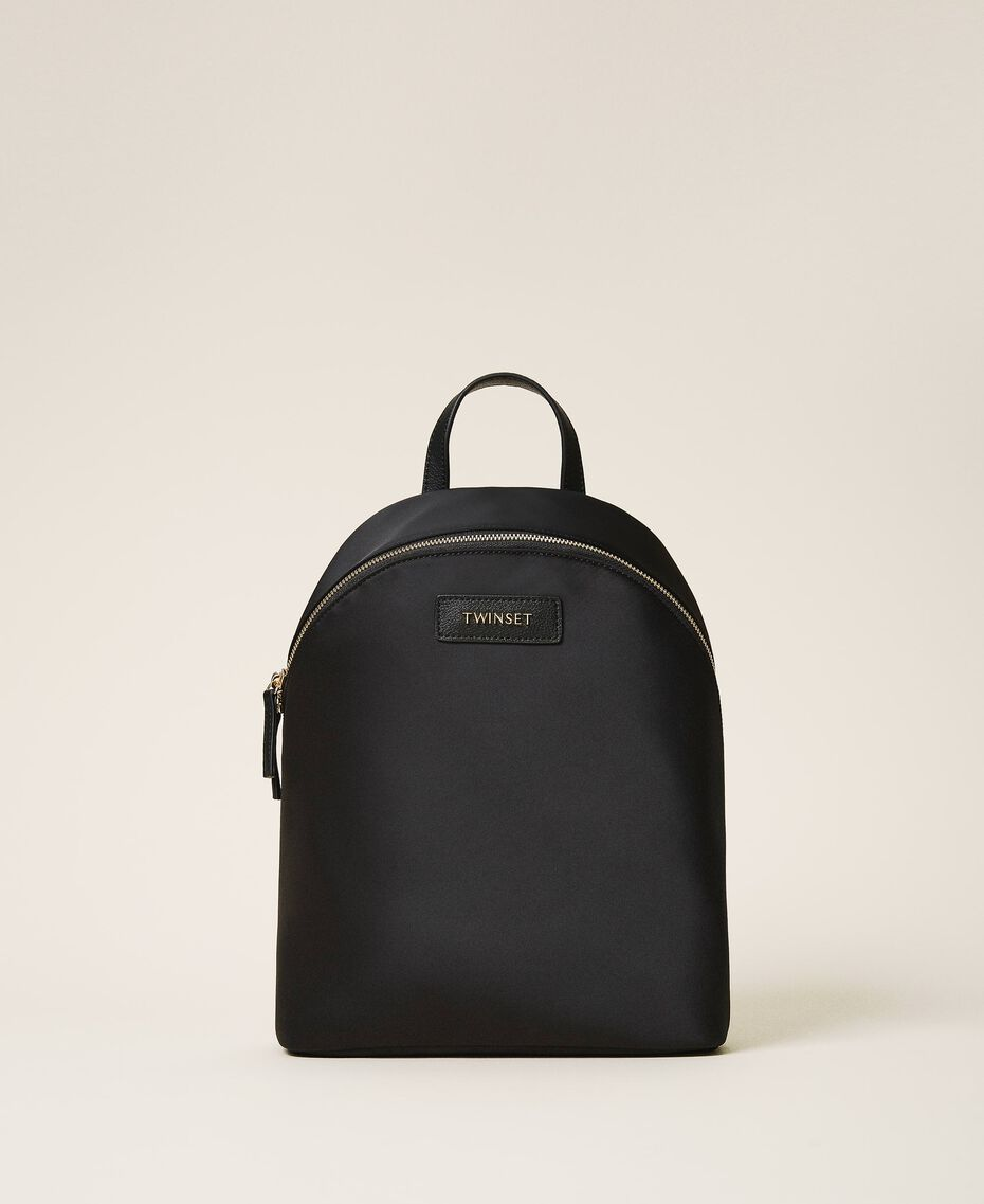 Satin Twinset Bag backpack Black Woman 202TB7201-02