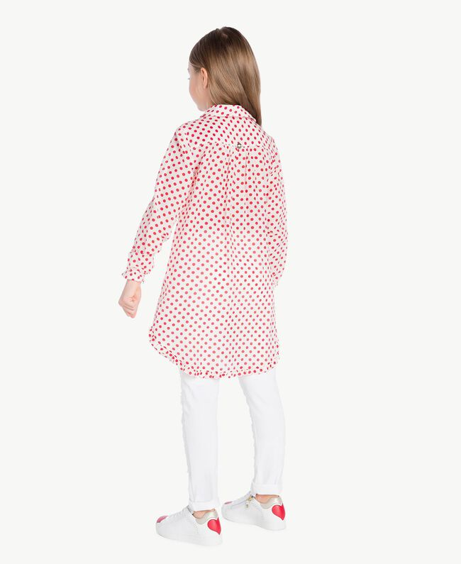 "Polka dot tunic ""Papyrus"" White Polka Dot Print / Pomegranate Red Child GS82PP-04"