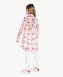 Baskets cœurs Bicolore Blanc Papyrus / Rouge Grenadier Enfant HS88C1-06