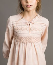 Cotton voile blouse with embroidery Blossom Pink Child 191GJ2350-04