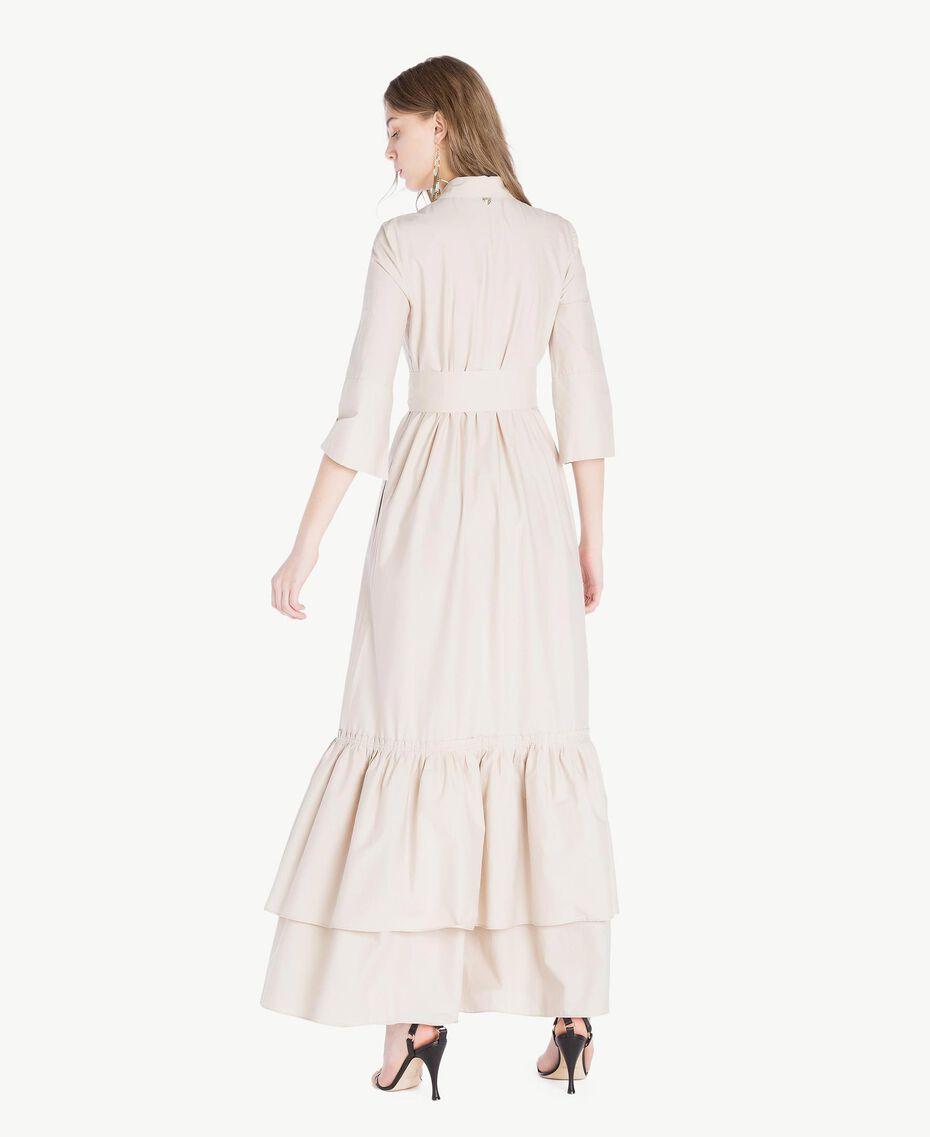 Langes Kleid aus Popeline Dune Frau TS821B-03