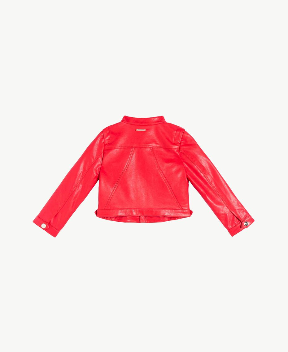 Faux leather jacket Pomegranate Red Child FS82DA-02
