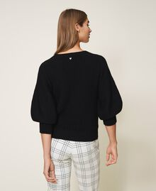 Jersey de lana mixta Blanco Nata Mujer 202MP3162-03