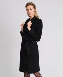 Manteau croisé en drap Beige «Camel Doré» Femme 999TT2030-01