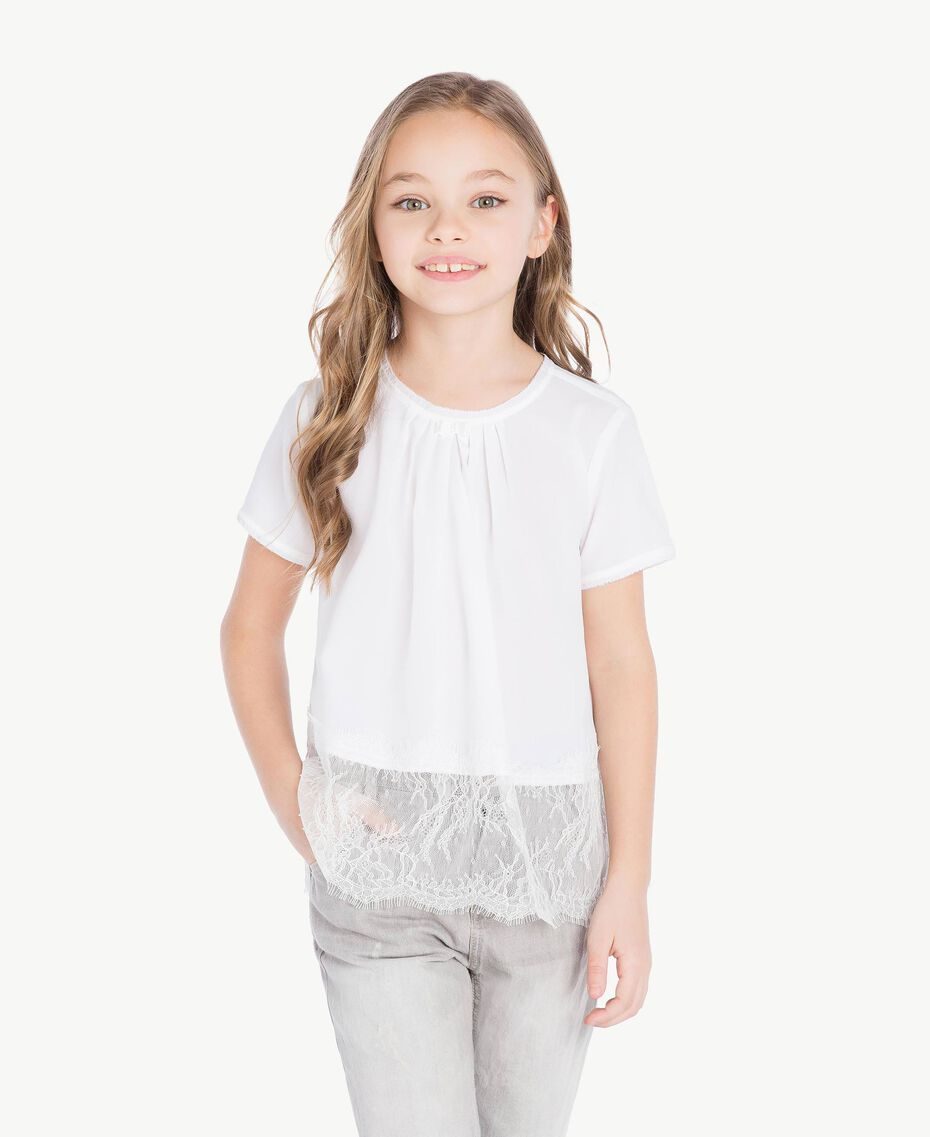 "Lace blouse ""Papers"" White Child GS82ED-02"