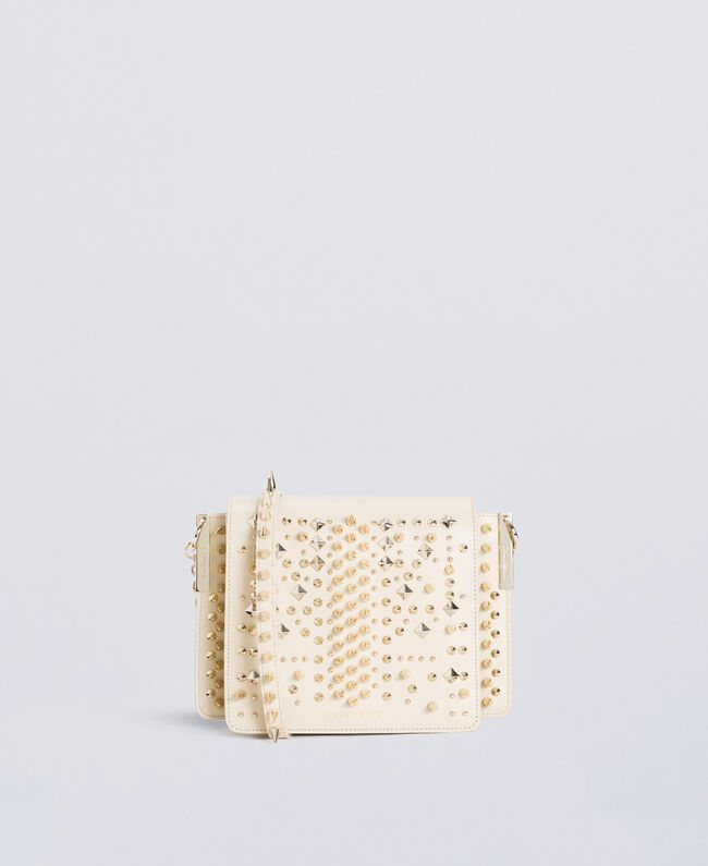 Studded satchel Ivory Woman OS8TLA-01