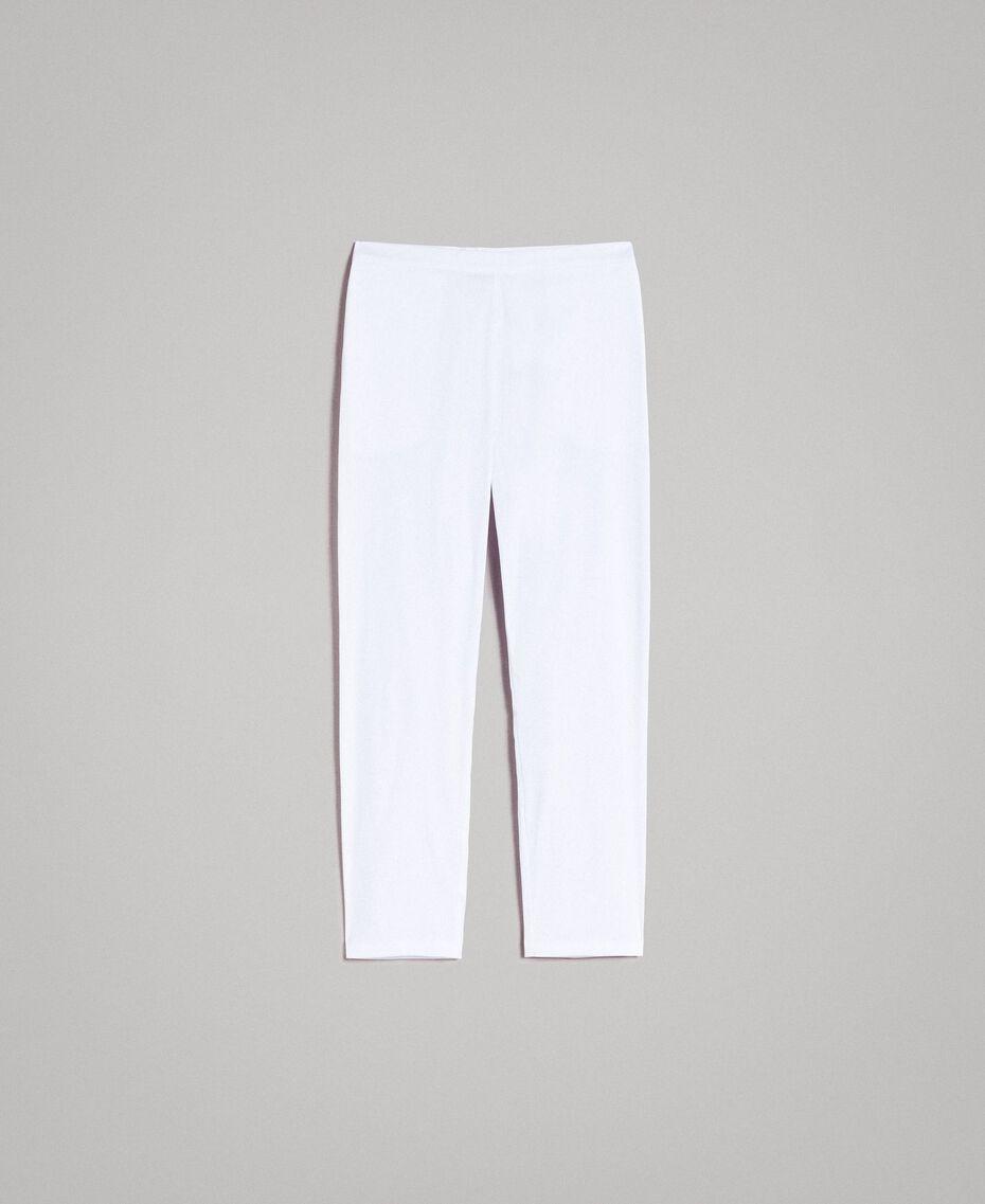 Leggings en popeline Crème White Femme 191MP2214-0S
