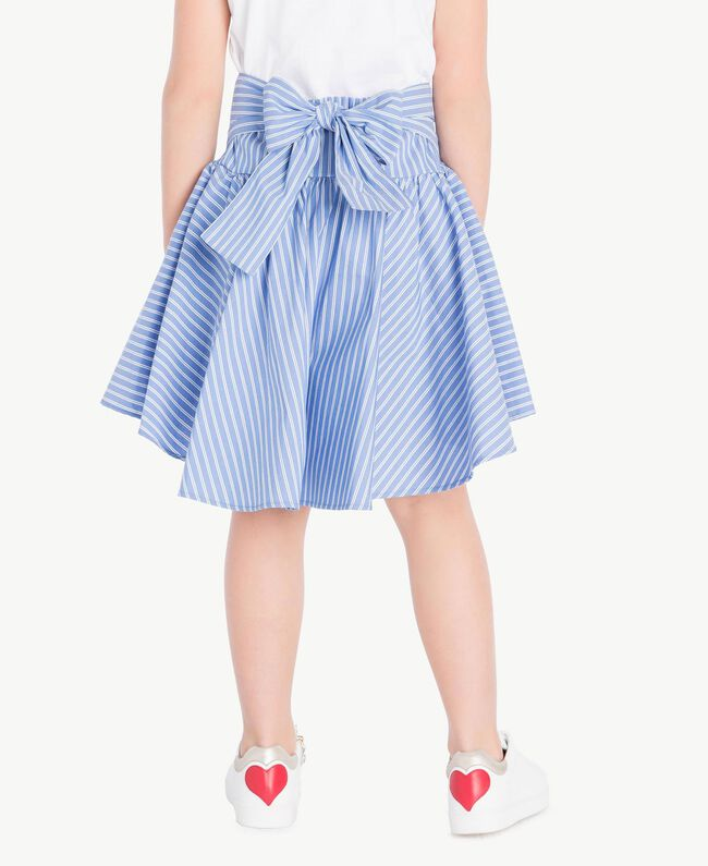 Poplin skirt Infinite Light Blue Jacquard Child GS82LQ-04