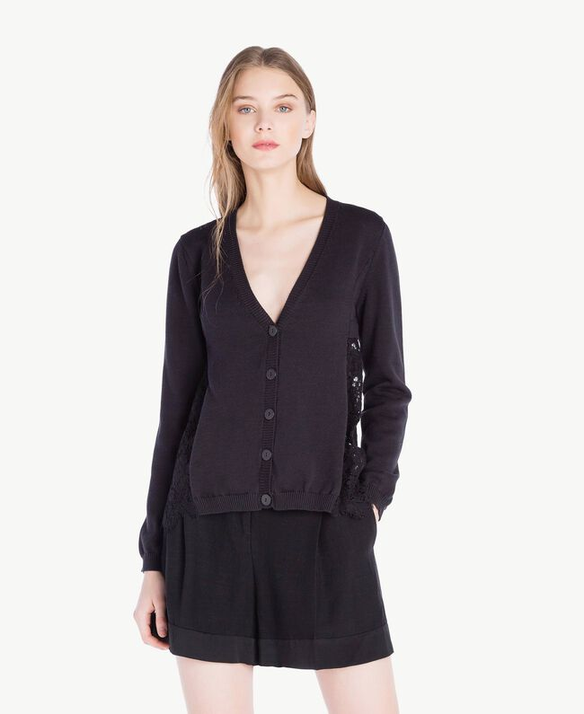 Lace cardigan Black Woman PS8372-01