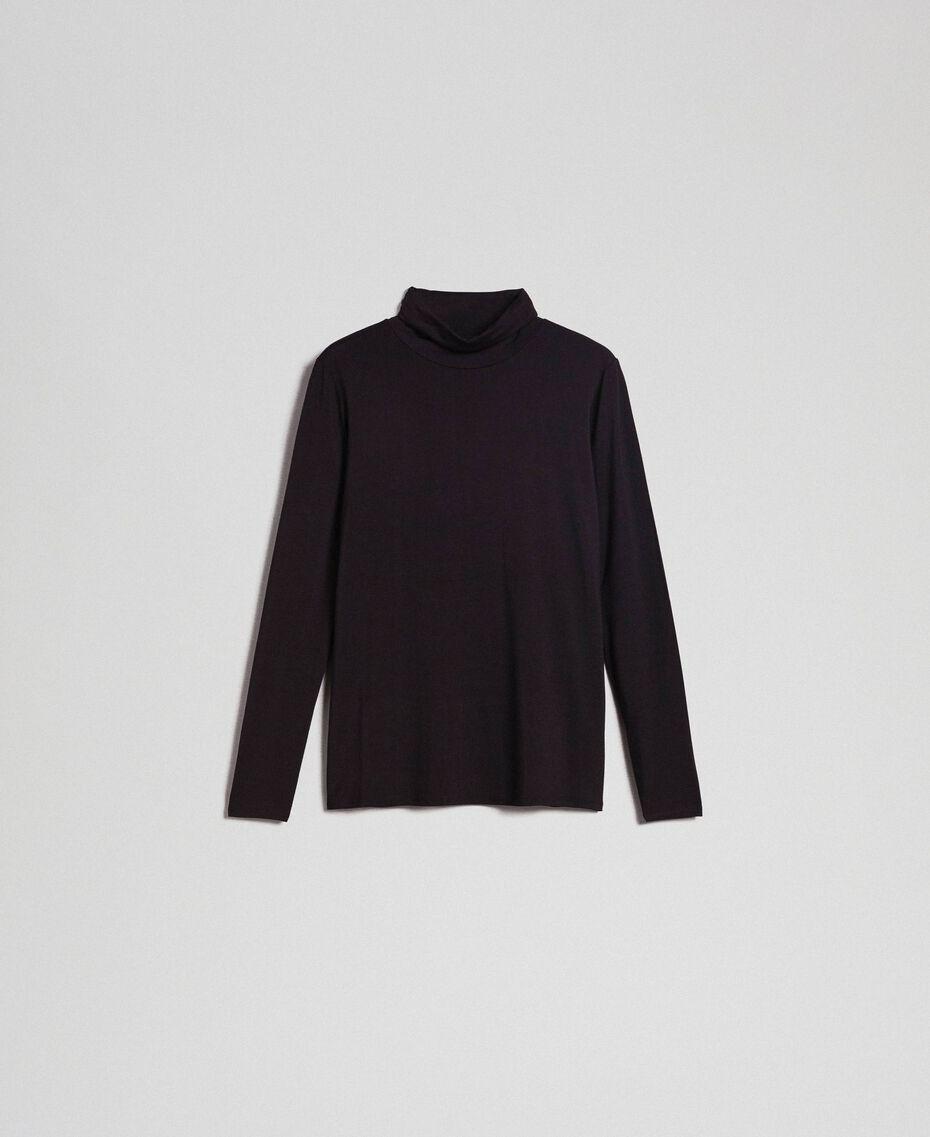 Pull col roulé en jersey Noir Femme 192LI2CDD-0S