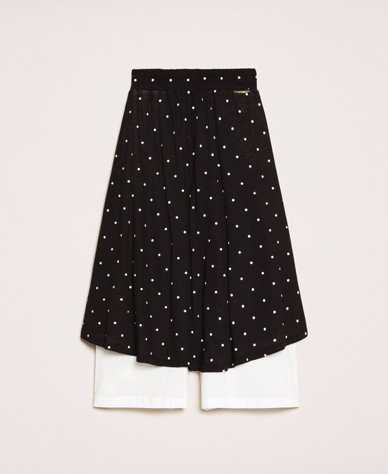 Polka dot trouser skirt