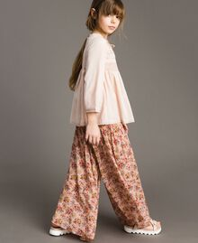 Floral georgette trouser skirt Mini Flowers Print Child 191GJ2801-02