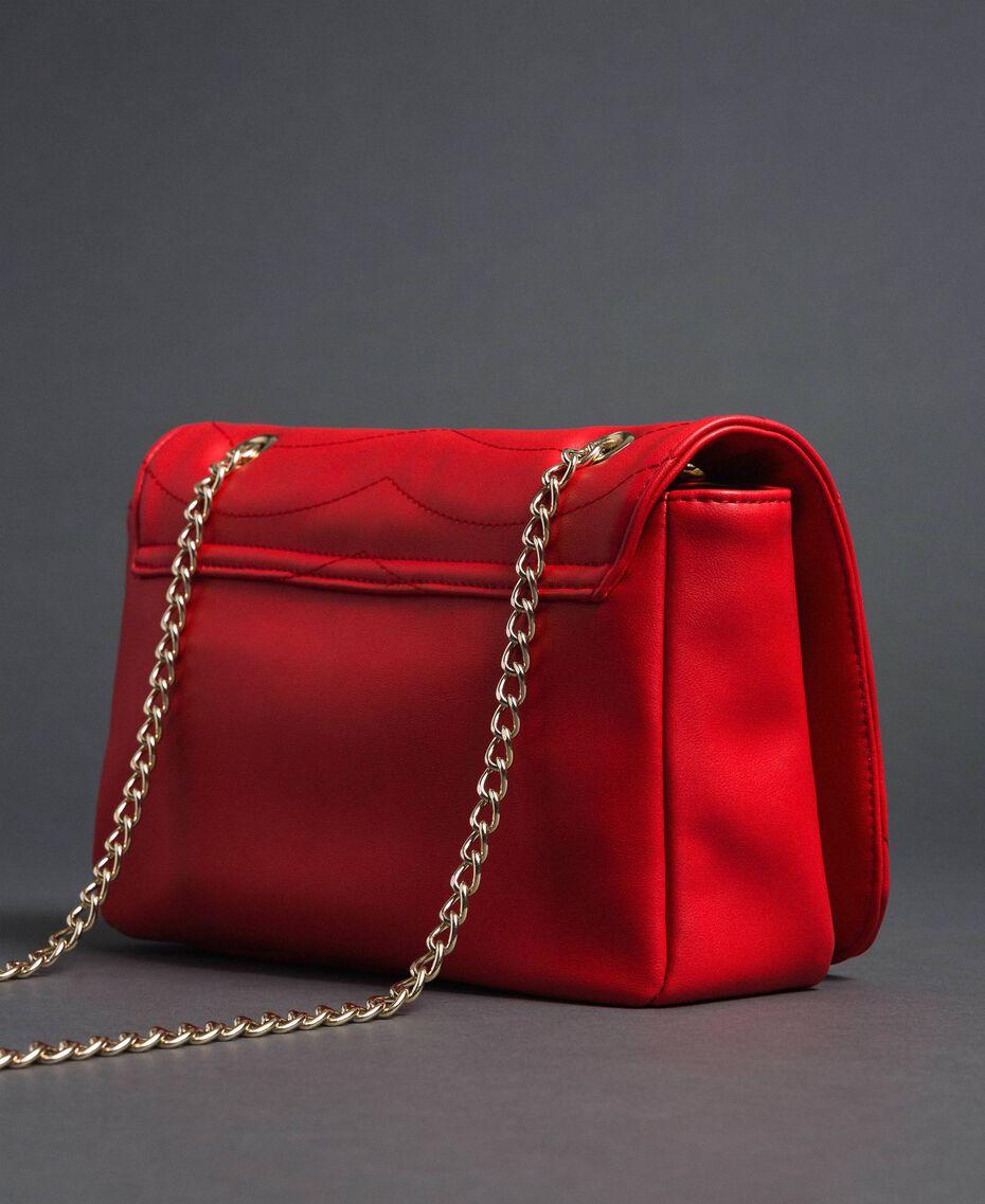 Sac à bandoulière avec cœurs matelassés Rouge Coquelicot Femme 192MA7083-02