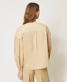 "Poplin shirt with inserts ""Cuban Sand"" Pink Woman 211TT2491-03"