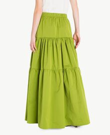 "Technical fabric skirt ""Lime"" Green Woman PS82J8-03"