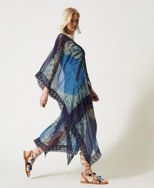 "Abito caftano con stampa foulard Stampa Foulard Cachemire ""Nautical Blue"" Donna 211TT268D-03"