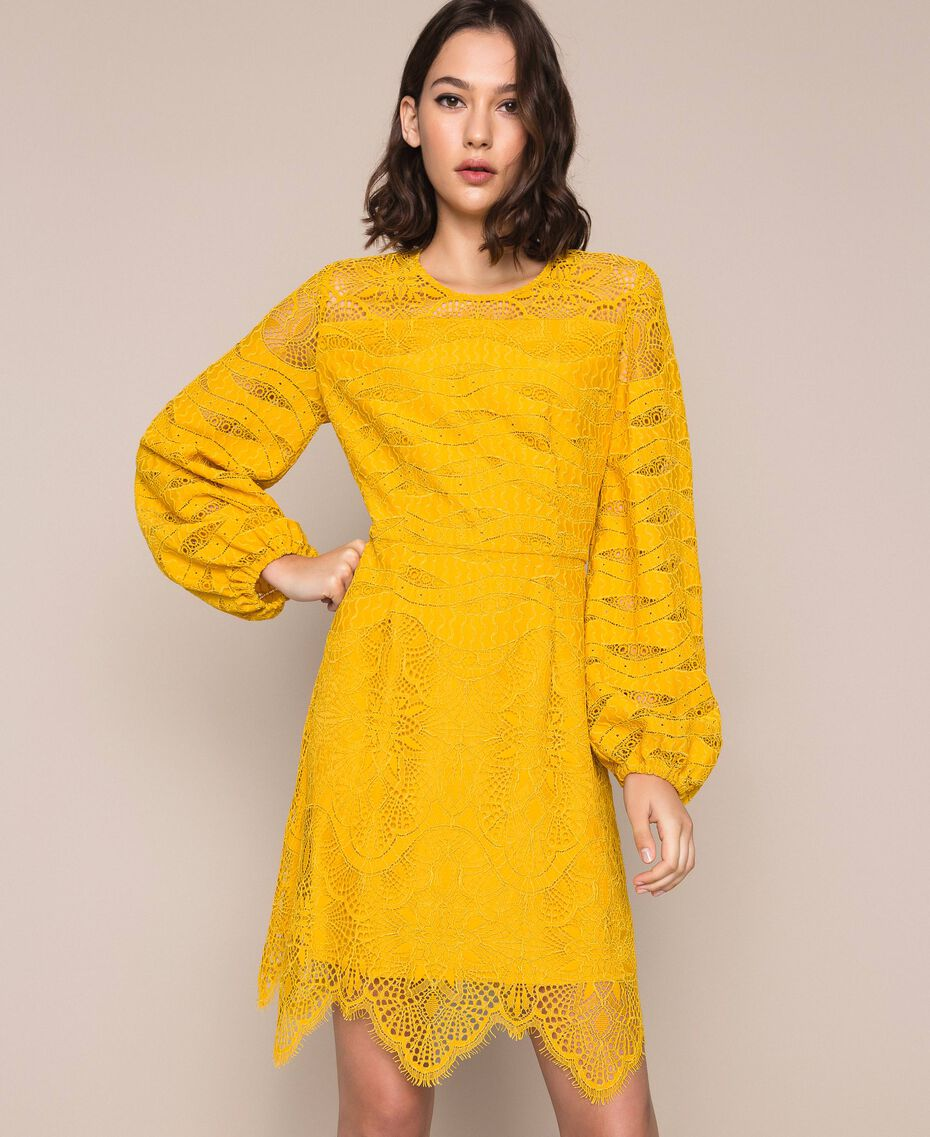 Robe en dentelle macramé Griotte Femme 201TP2031-01