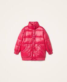 "Oversize puffer jacket with maxi pockets ""Cerise"" Fuchsia Woman 202MP2050-0S"