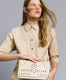 Studded clutch bag Ivory Woman OS8TLB-0S
