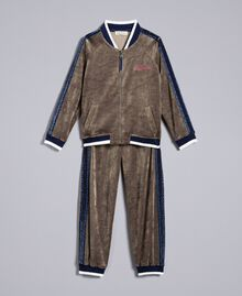 Chenille tracksuit set Olive Child GA82RB-01