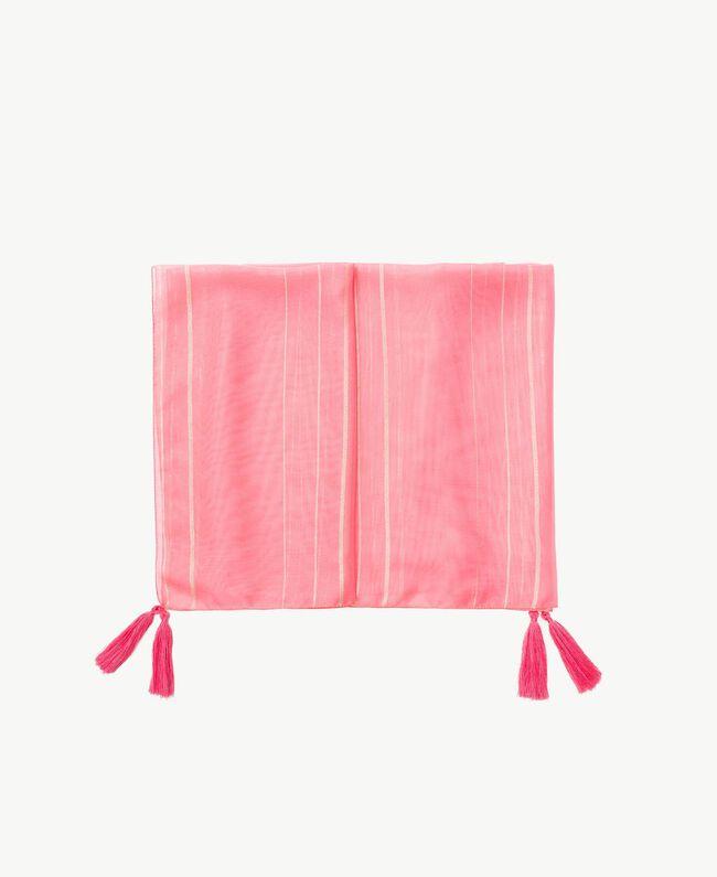 Pareo aus Lurex Fuchsia Vegas Pink Frau BS8ZFF-01