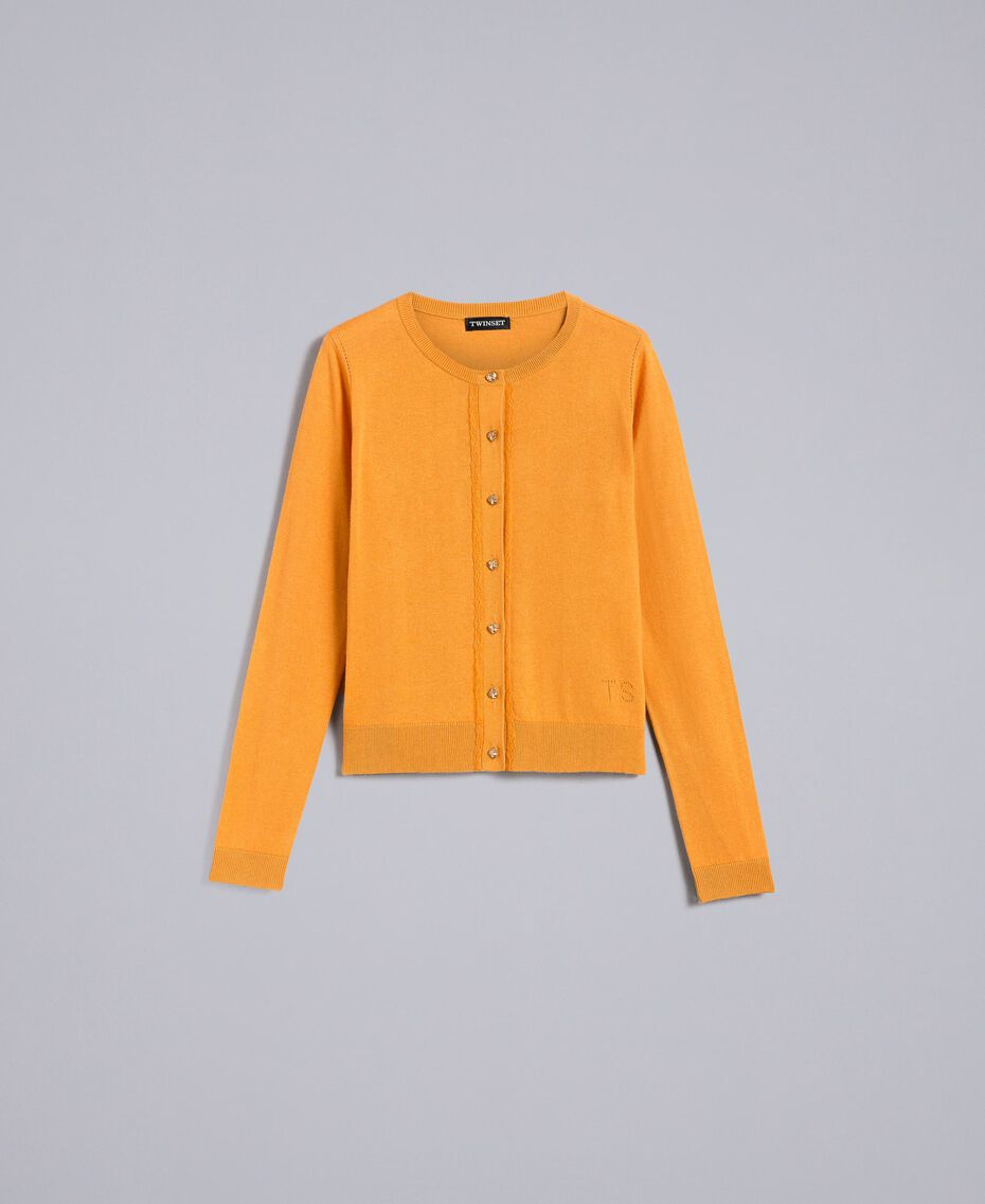 Silk and cashmere mandarin collar top Brandy Woman PA83GF-0S