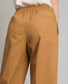 """Pantalon palazzo en popeline Beige """"Savane"""" Femme 191ST2042-05"""