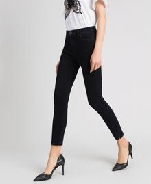 Five-pocket skinny jeans Black Woman 192TP2430-02