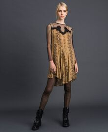 Georgette animal print dress Python Camel Print Woman 192TT2273-01
